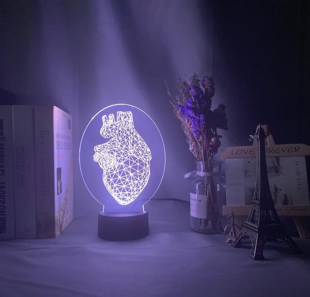 Luminária Coração Oval