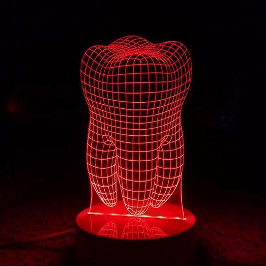 Luminária Dente - 3D - c/ controle