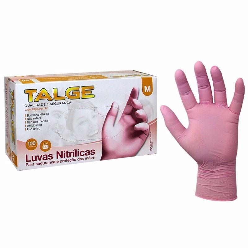 Luva Nitrílica - Rosa - Talge