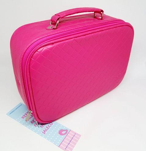 Maleta Médica Acadêmica Matelassê Pink