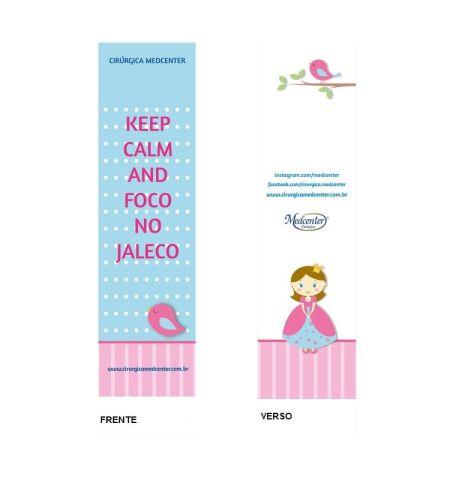 Marca Páginas - Keep calm and foco no jaleco