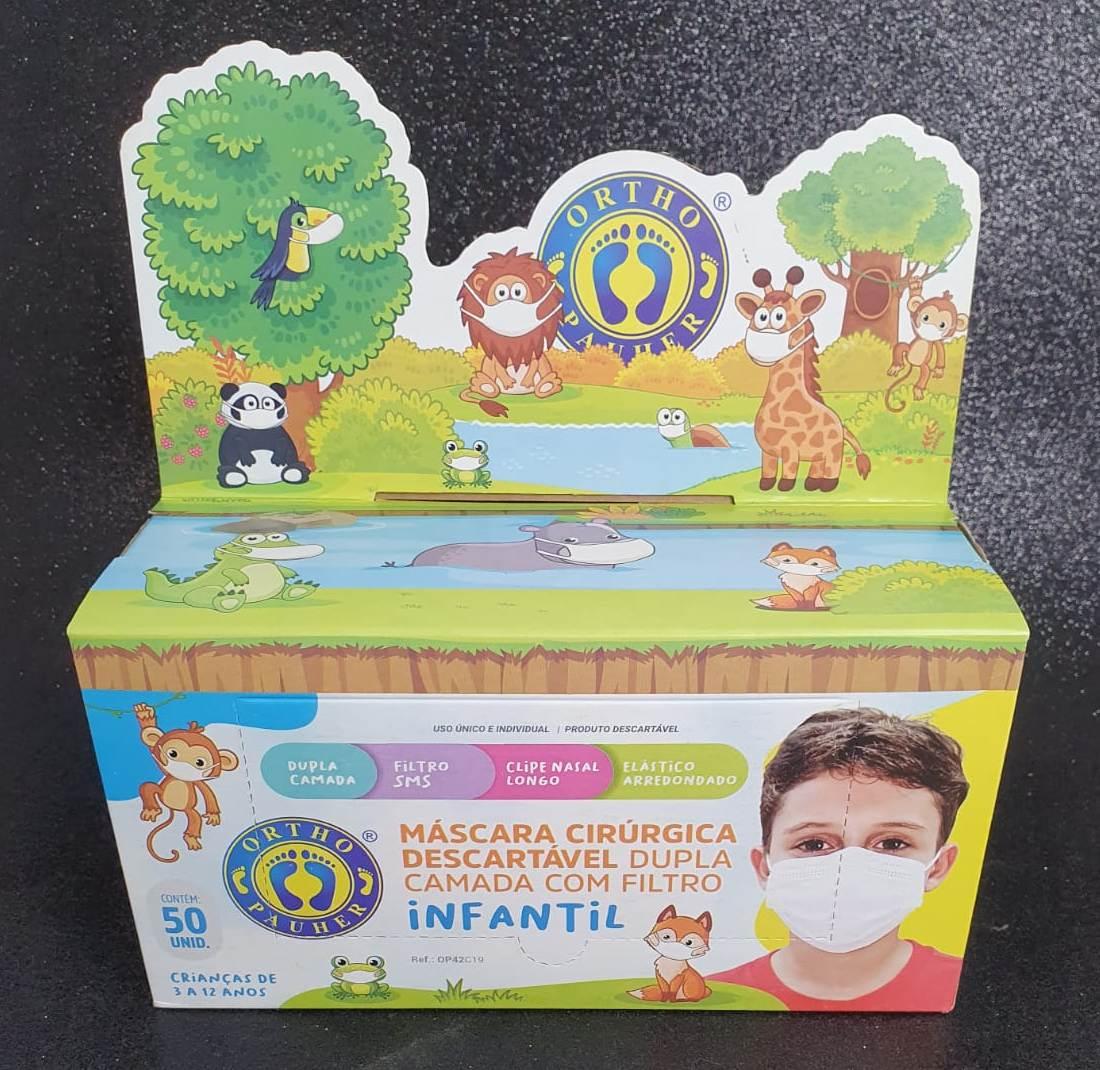 Máscara Descartável c/ Elástico - Infantil - c/50
