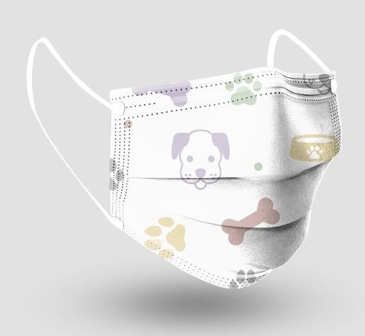Máscara Descartável Tripla c/ Elástico - Veterinária - c/20