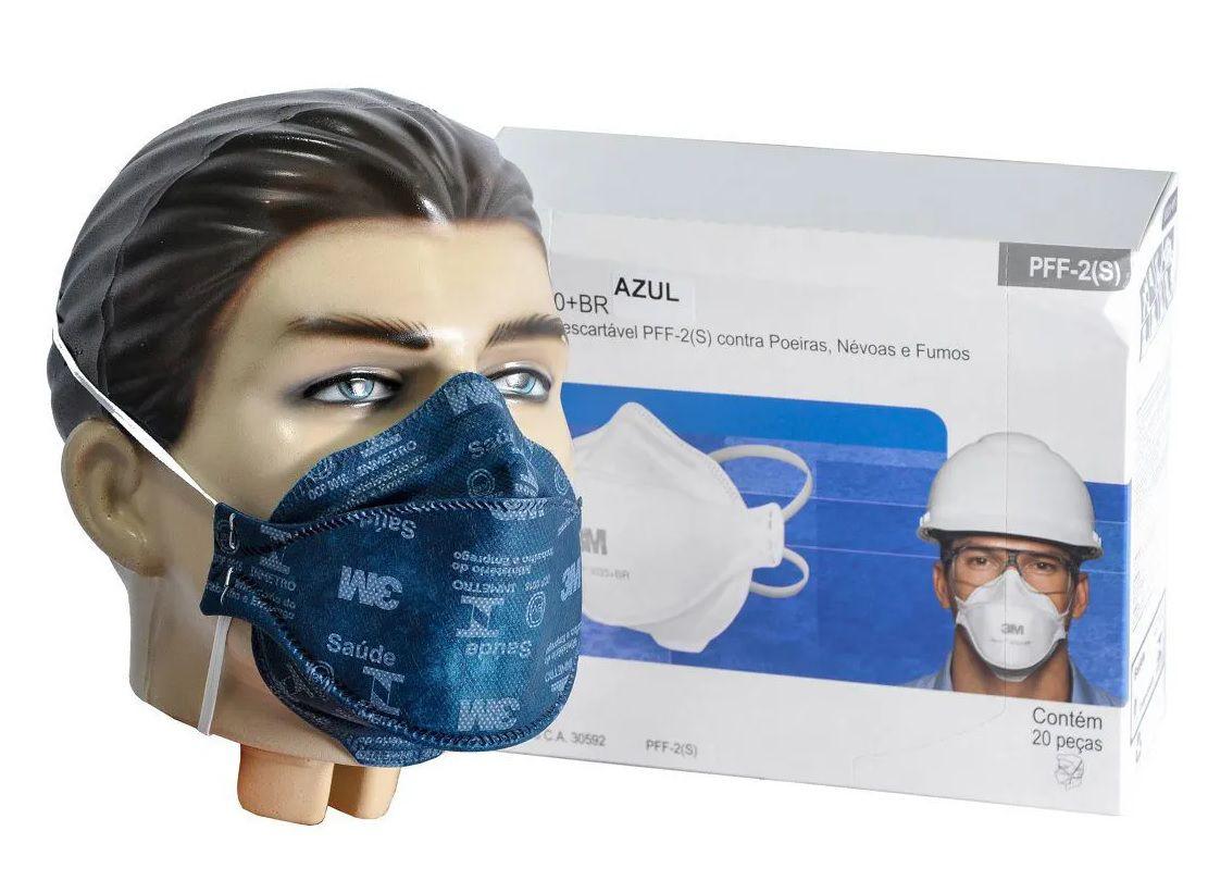 kit c/10 - Máscara Respirador PFF2 sem válvula 3M™ Aura 9320+BR