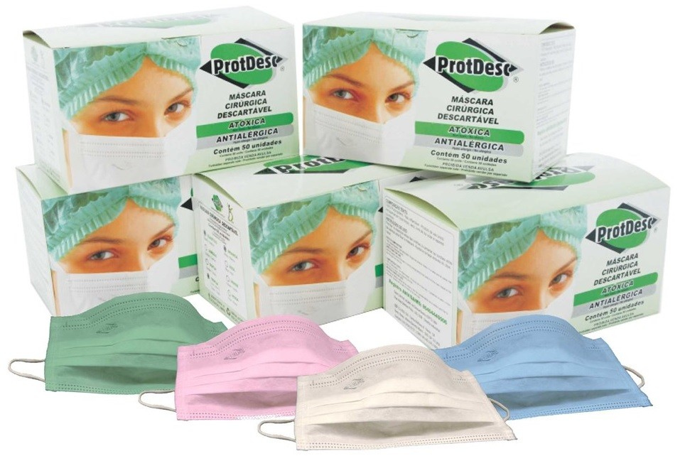 Máscara Tripla c/ Elástico - c/50