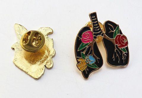 Pin Pulmão - Flower
