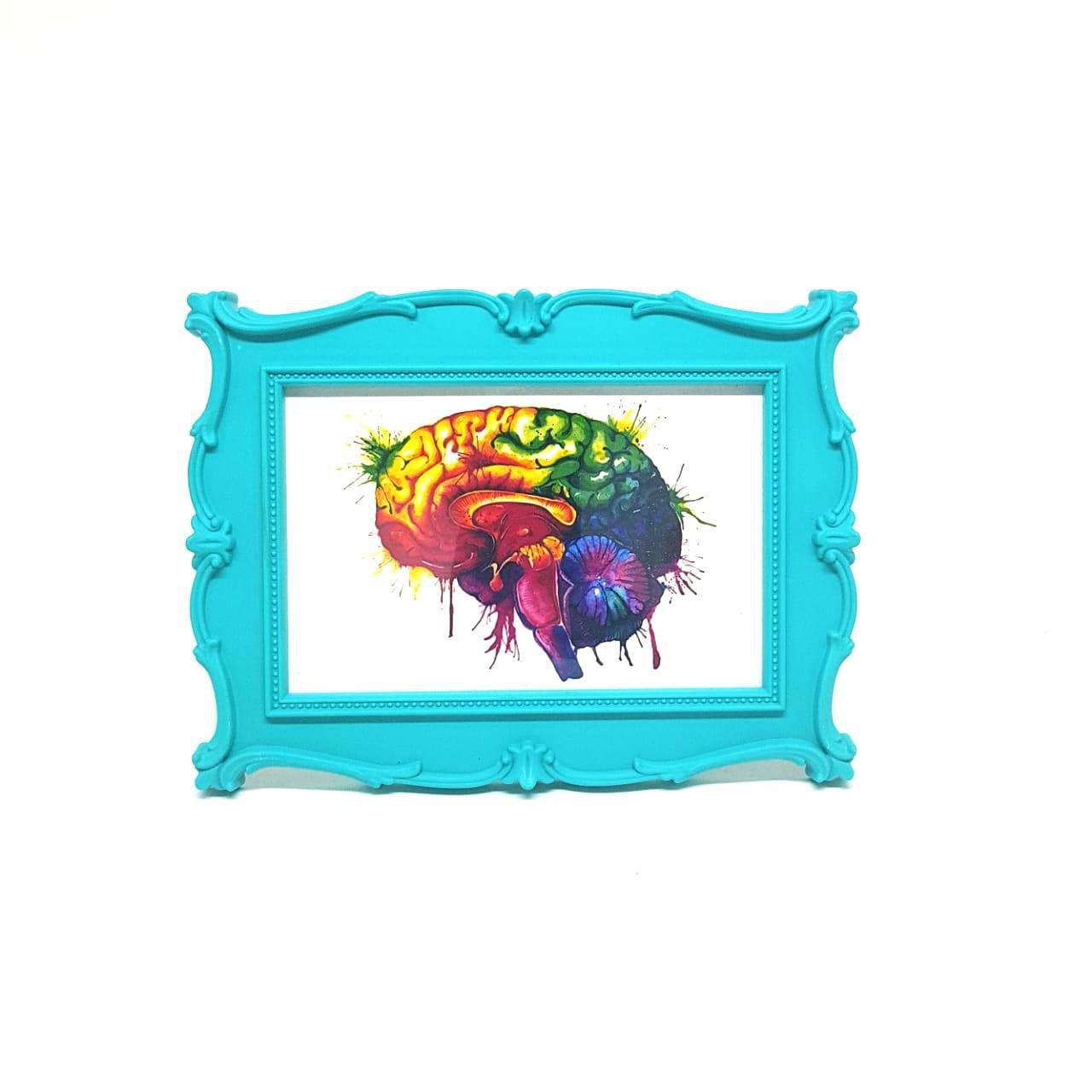 Porta Retrato Menta - Gravura Cérebro