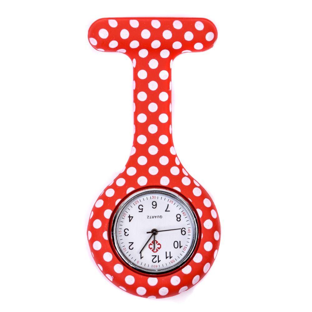 Relógio Estampado - Poá vermelho