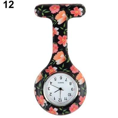 Relógio Estampado - Preto c/ florzinha