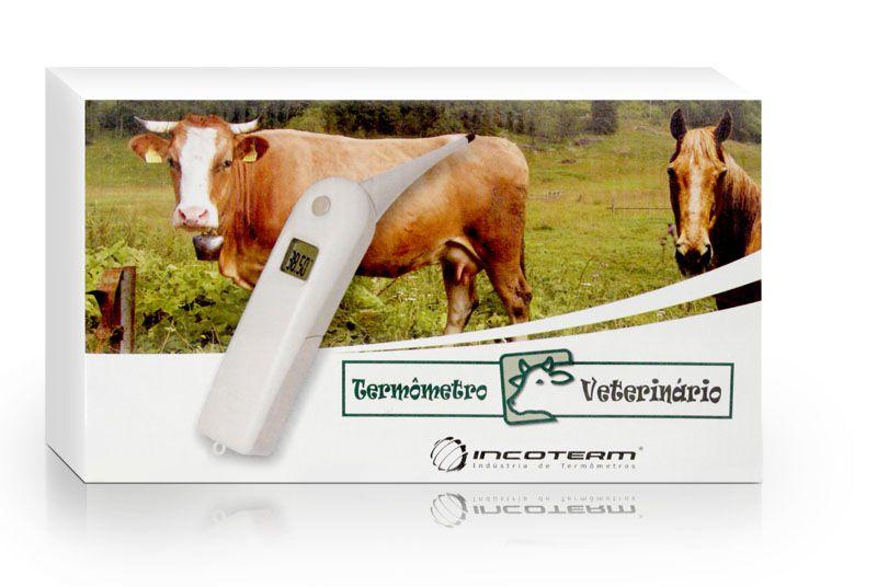 Termômetro Veterinário Digital - Incoterm - LCD