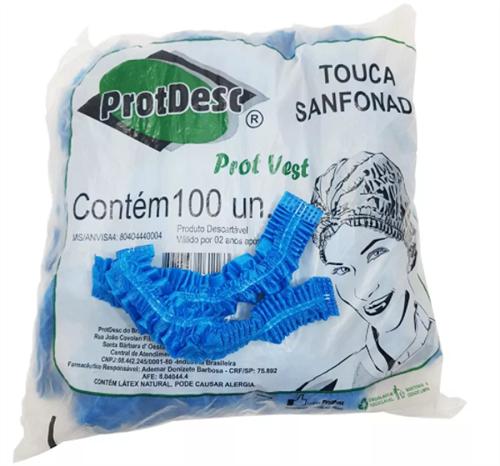 Touca Sanfonada - Azul - Pct. c/100