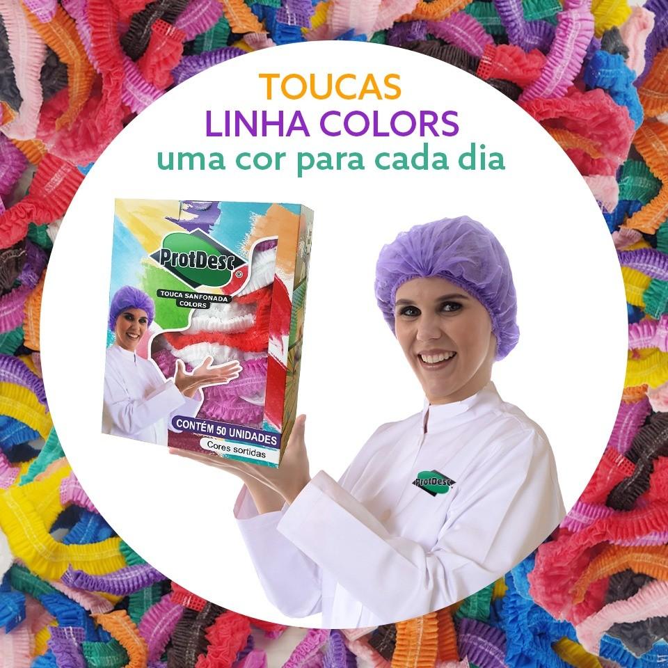 Touca Sanfonada Colors - Cx. c/50 -