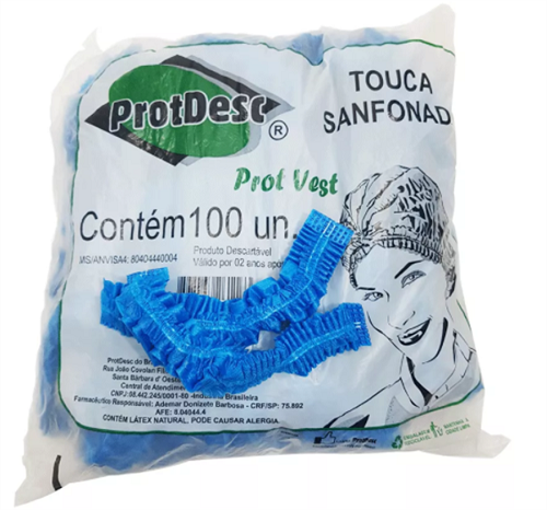 Touca Sanfonada - Pct. c/100