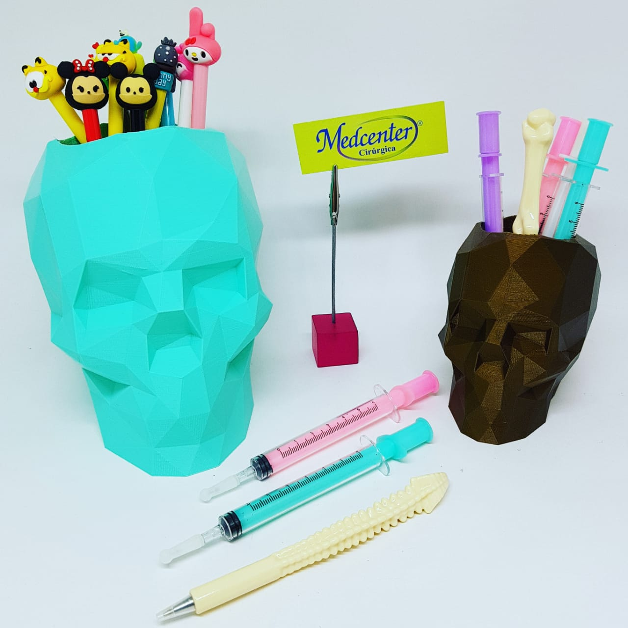 Vaso/Porta Lápis Skull