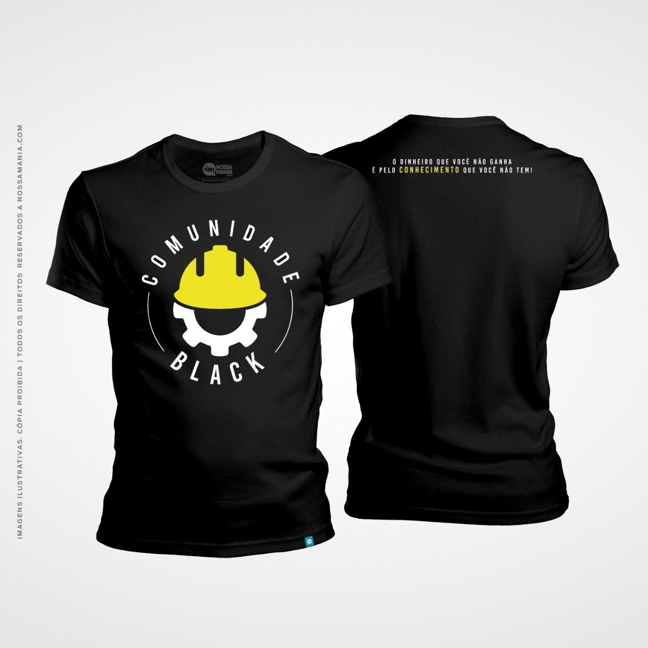 Camisa plantão engenharia: comunidade black