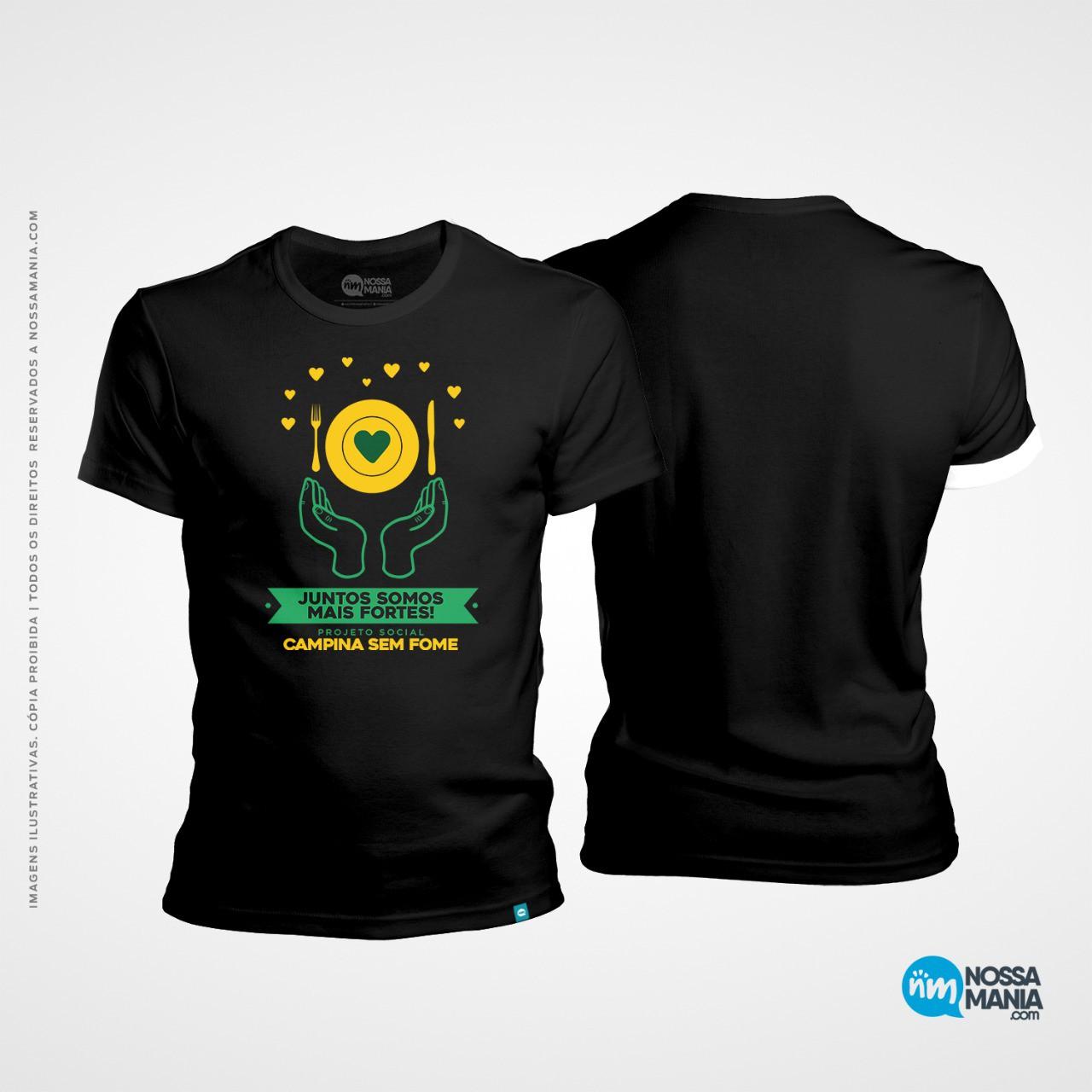 Camiseta campina sem fome