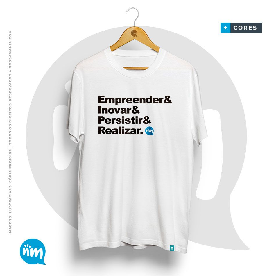 Camiseta de Empreendedor: Empreender & Inovar & insistir & Realizar