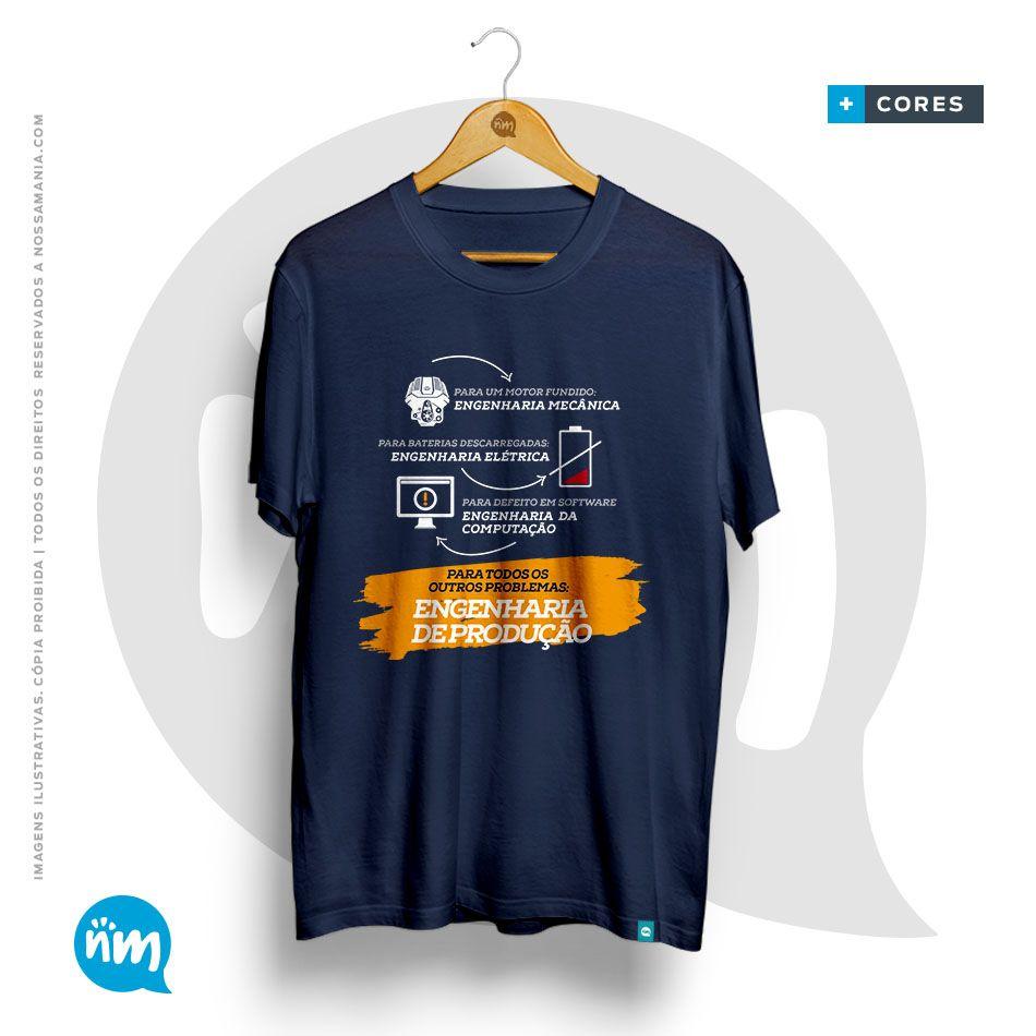 Camiseta de Engenharia de Produção: Solução dos Problemas