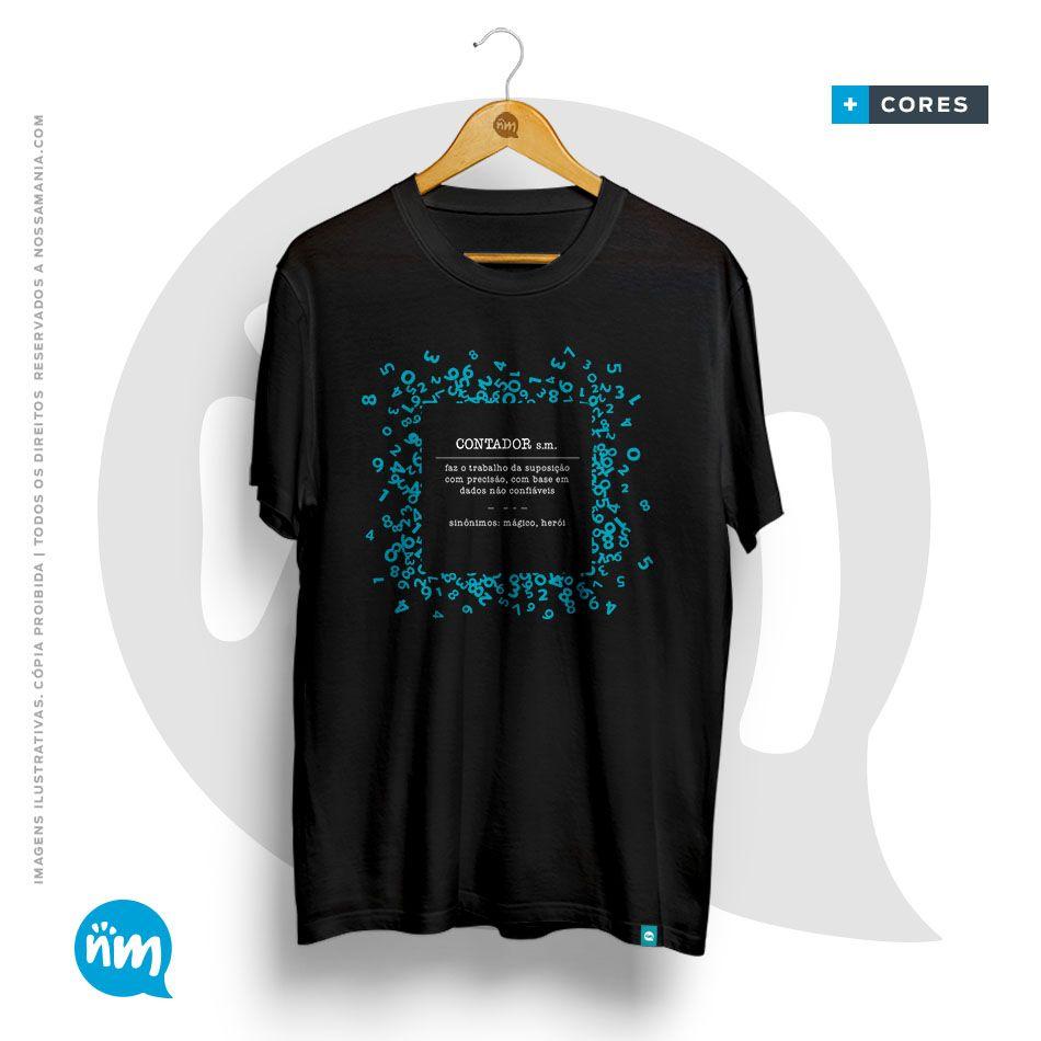 Camiseta de Profissão:  Contabilidade