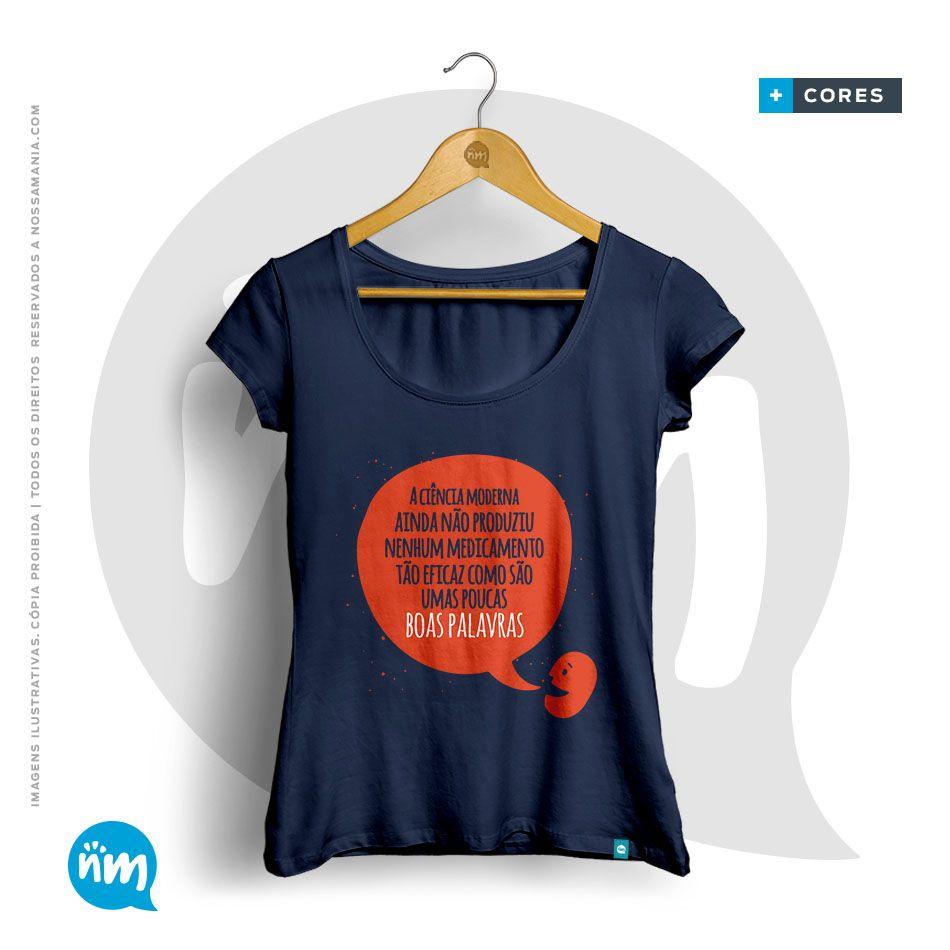 Camiseta de Psicologia: Boas Palavras