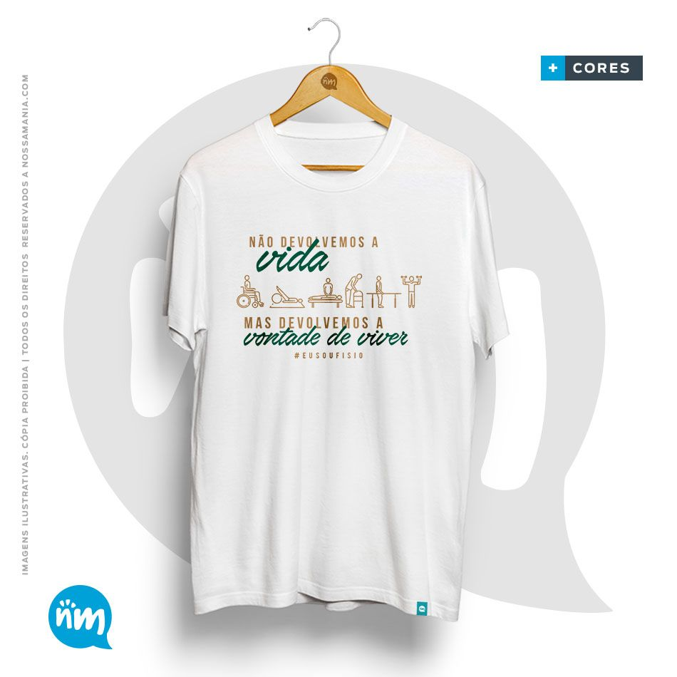 Camiseta do Curso de Fisioterapia