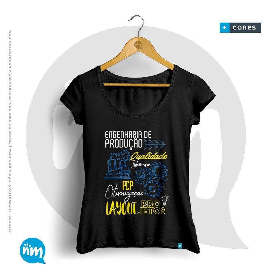 Camiseta Engenharia de Produção