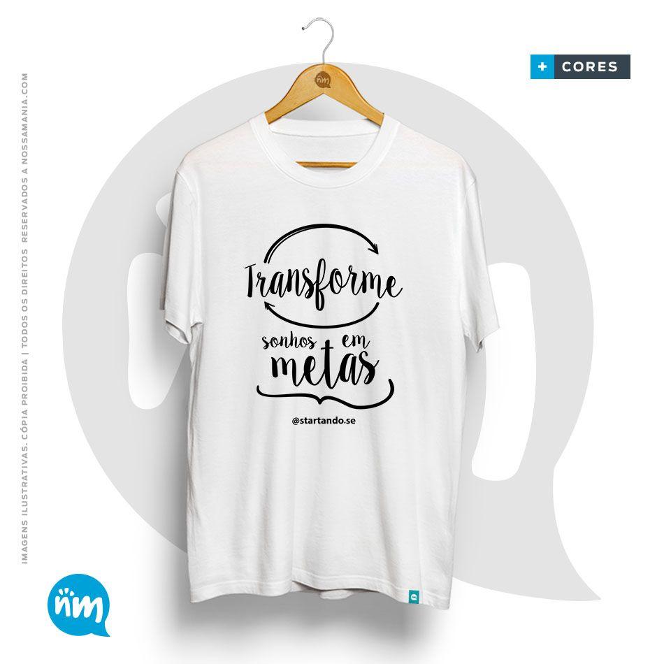 Camiseta Sonhos em Metas
