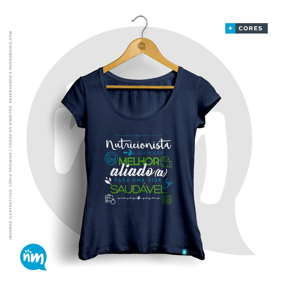 Camiseta Universitária Nutrição