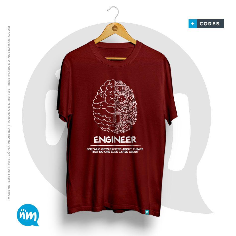 T-shirt Curso de Engenharia Mecânica