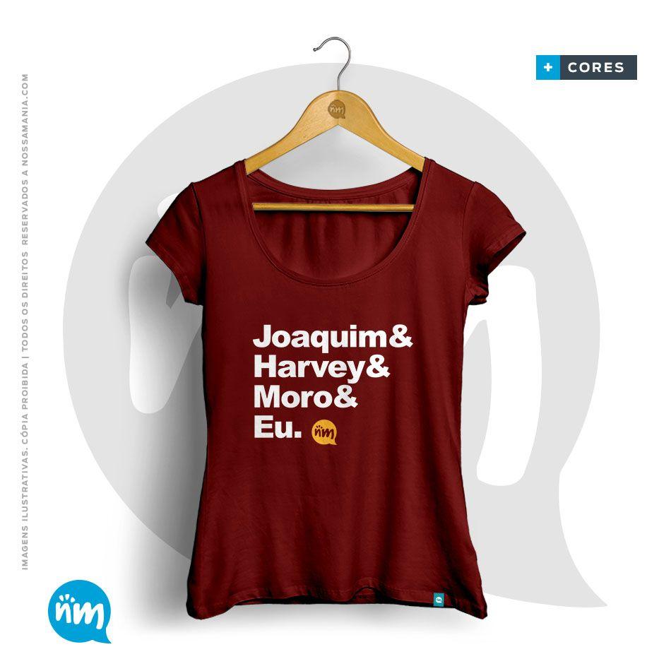 T-shirt de Direito: Joaquim & Harvey & Moro & Eu