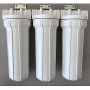Filtro de água Triplo para Entrada / Cavalete ou Caixa Dágua - POE 10 x 2.1/2 BR - Plissado