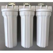 Kit Filtro Triplo para filtragem de água para fabricação cerveja artesanal-Branco-10