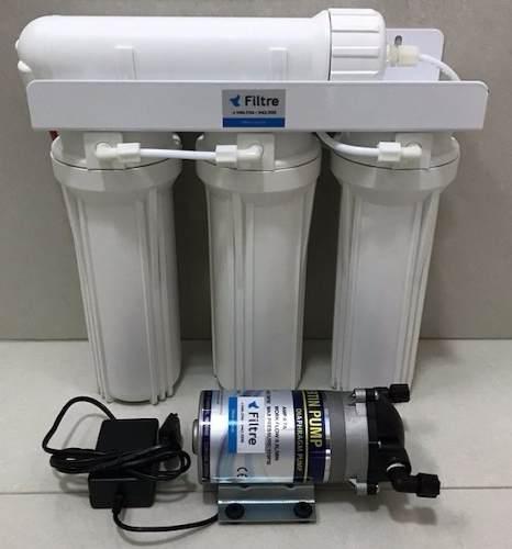 Filtro Osmose Reversa 100 GPD + Deionizador + Bomba Pressurizadora