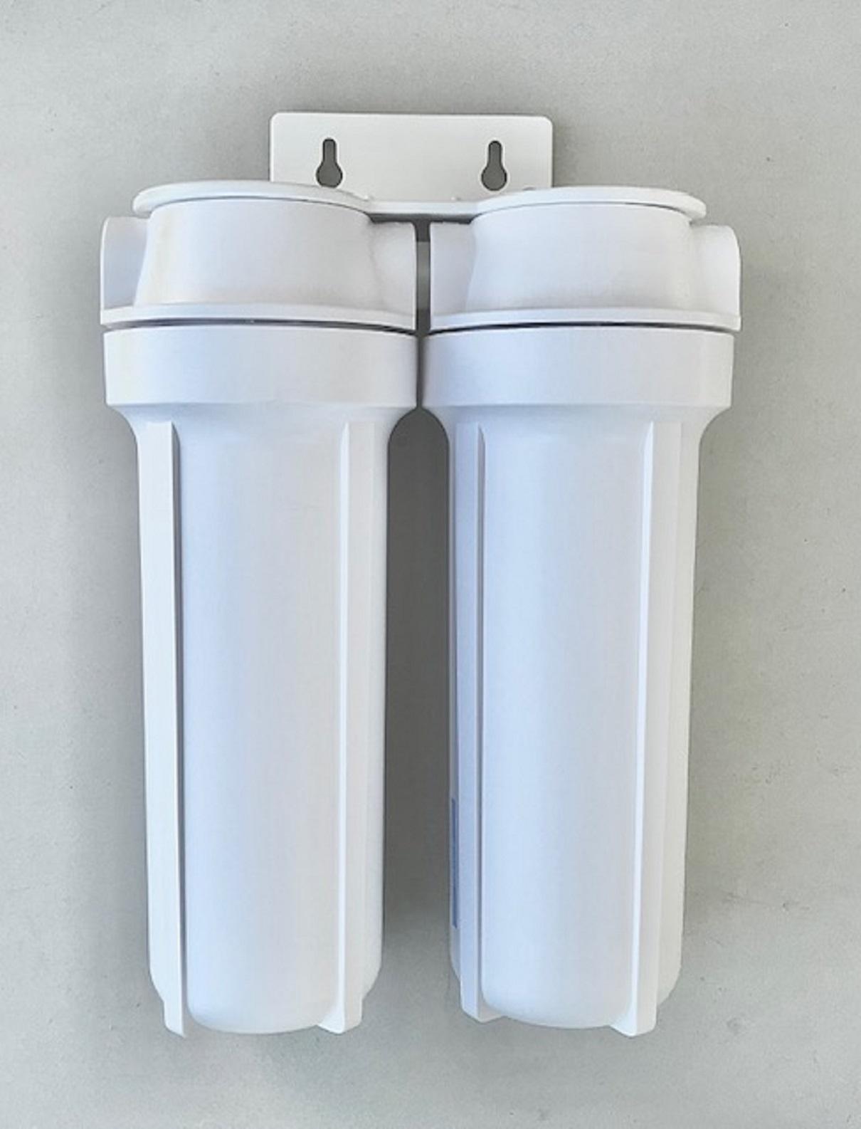 Filtro de água Duplo para fabricação de cerveja artesanal - Branco - Retira Cloro