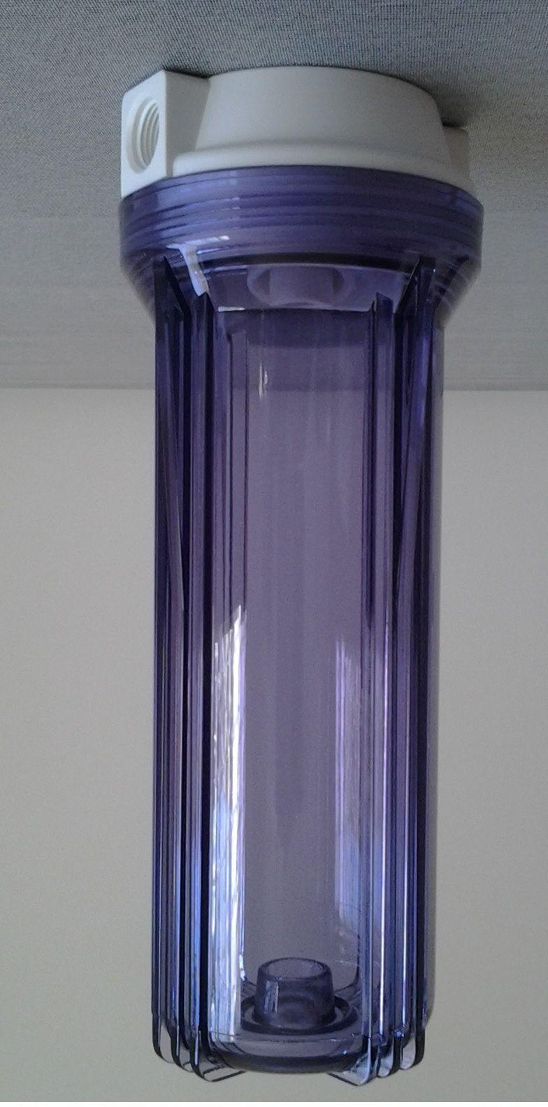 Filtro de água POE 10 x 2.1/2 Transparente Plissado Lavável