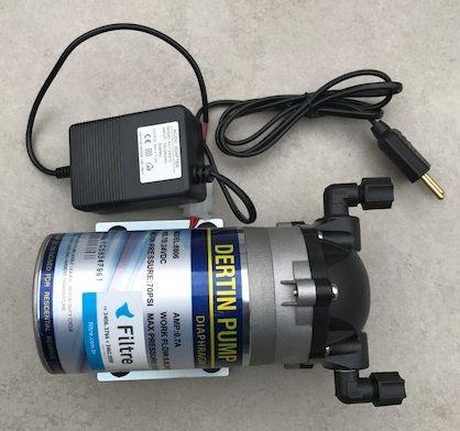 Filtro Osmose Reversa 50 GPD + Deionizador + Bomba Pressurizadora