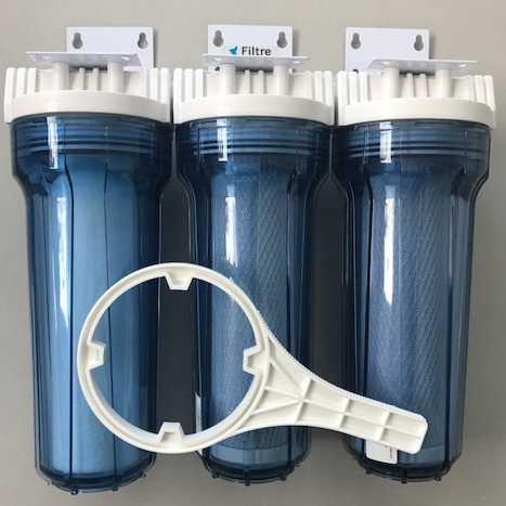 Kit Filtro Triplo para filtragem de cerveja artesanal - Transparente - 10 - PROMOÇÃO!