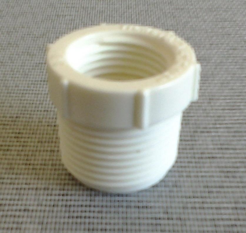 Redutor de 3 / 4 para 1 / 2 polegada PVC