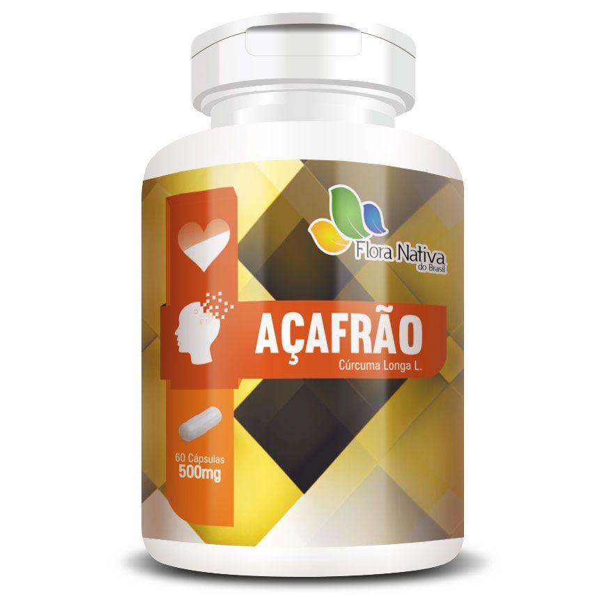 Açafrão - Cúrcuma (Curcumina) 500mg - Original - 60 cápsulas