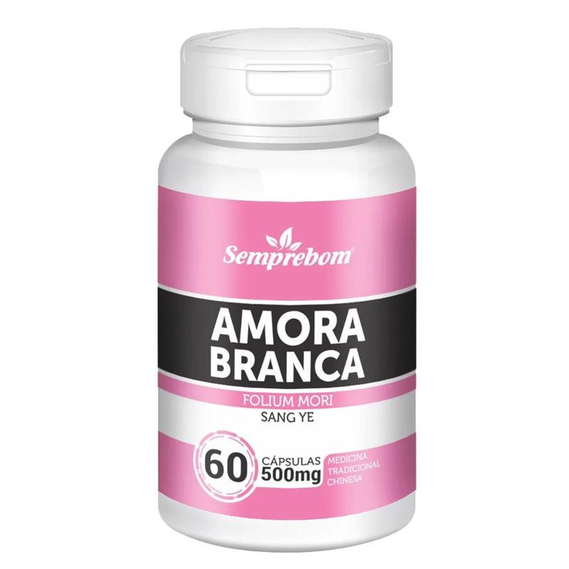 Amora Branca (Folium Mori) 500mg - 100% Pura - 60 cápsulas