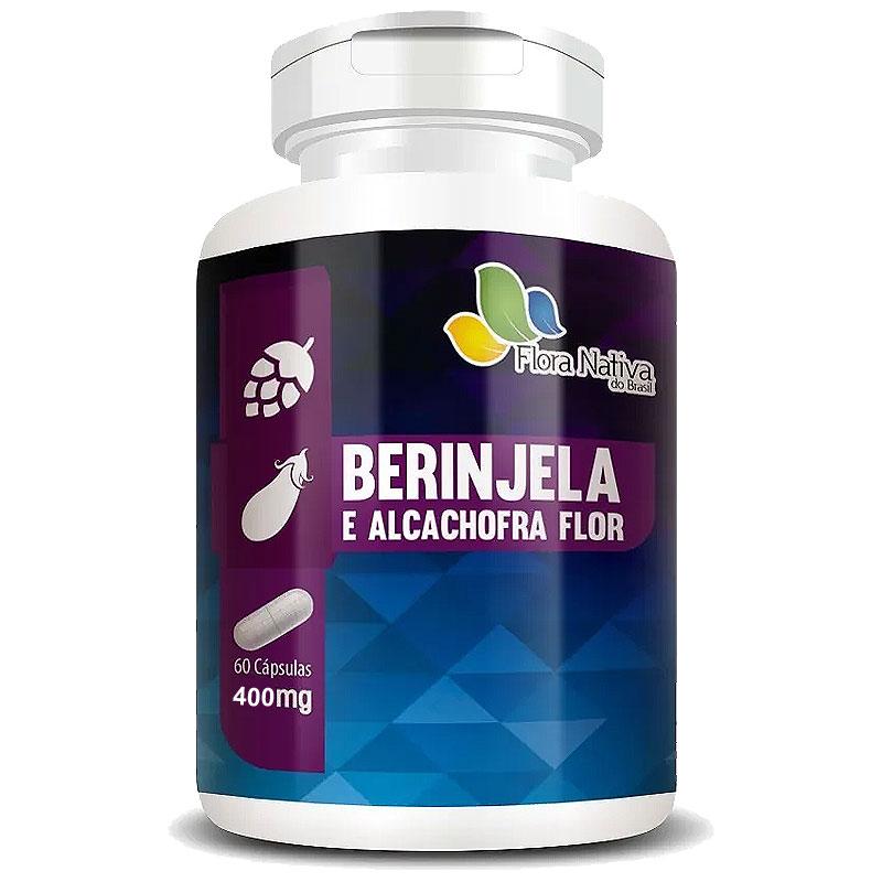 Berinjela e Alcachofra Flor 400mg - 60 cápsulas