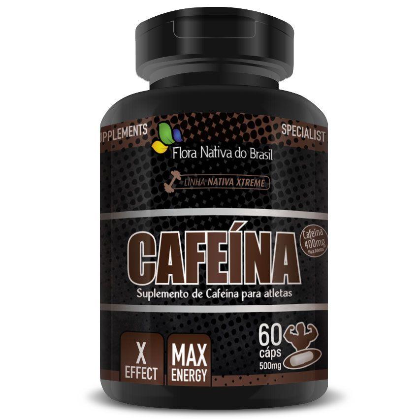 Cafeína Anidra Max Energy 500mg - 60 cápsulas