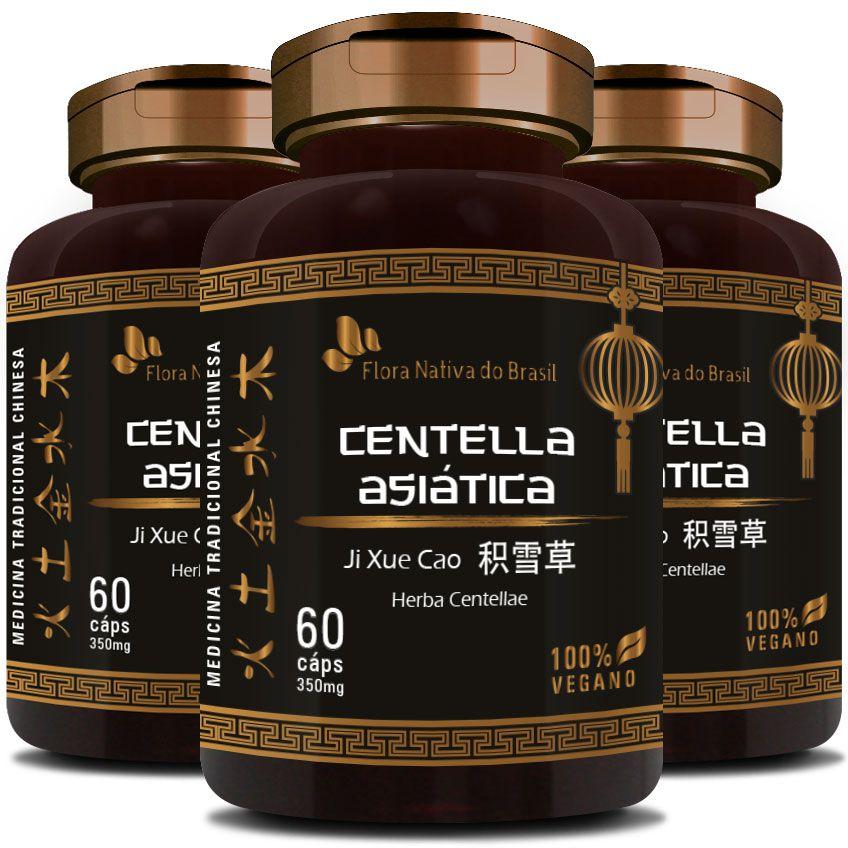 Centella Asiática (Herba Centellae) 350mg - 03 Potes (180 cáps.)