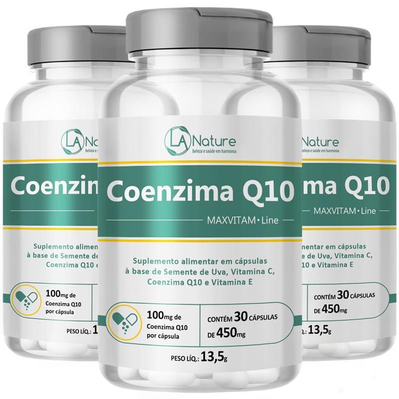Coenzima Q10 Coq10   MaxVitam Line Original - 3 Potes (90 cáps)