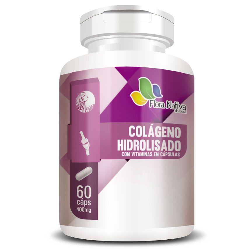 Colágeno Hidrolisado com Vitaminas 400mg - 60 cápsulas