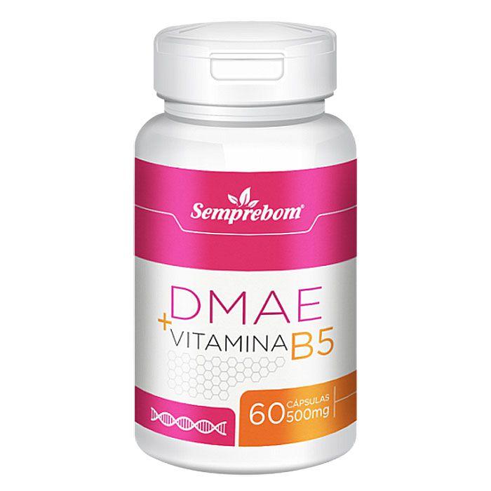 DMAE + Vitamina B5 - 500mg - 60 cápsulas