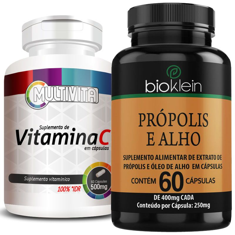 Kit - Imunidade - Própolis e Alho + Óleo de Girassol + Vitamina C