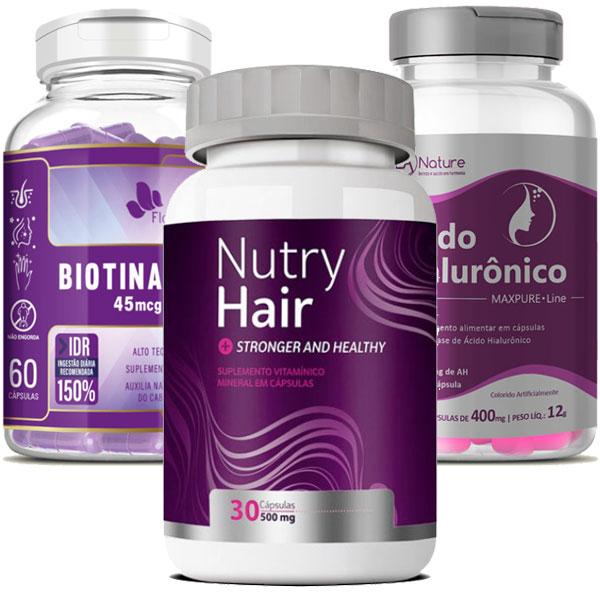 Kit Fórmula da Beleza - Viva Hair Skin - Cabelos, Unhas e Pele