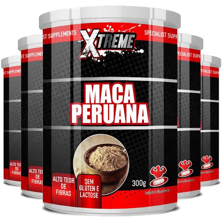 Maca Peruana Xtreme em Pó 100% Pura Original - 5 Potes 300g (cada)