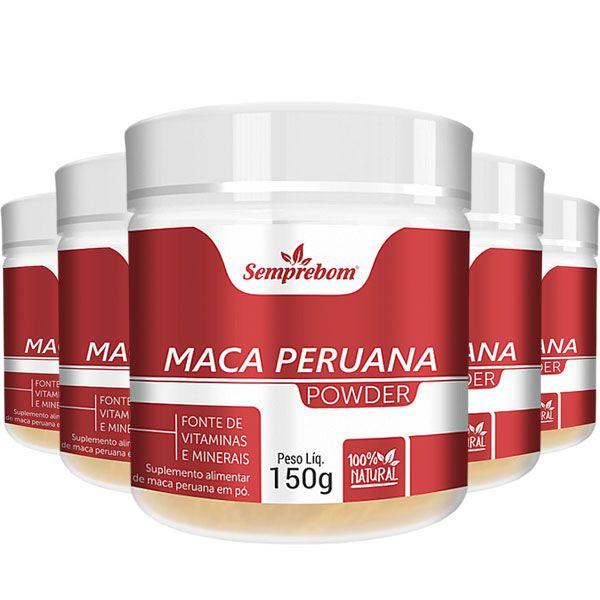 Maca Peruana em Pó - Powder - 150g - 05 Potes